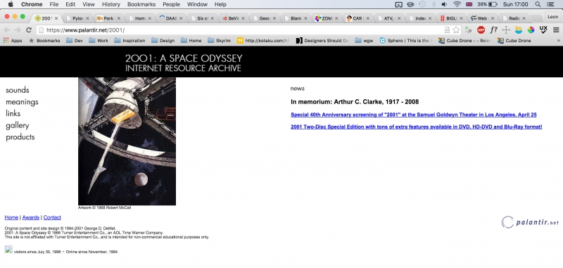 Space Odyssey Internet Resource